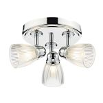 Dar Cedric 3 Light Round Ceiling Light